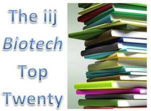 The iij top twenty upcoming biotech books