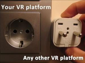 VR platform incompatibility: what if it doesn't matter?